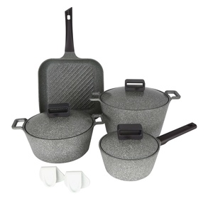 Neoflam Die-Cast Granite Cookware Set  Grey 8pcs
