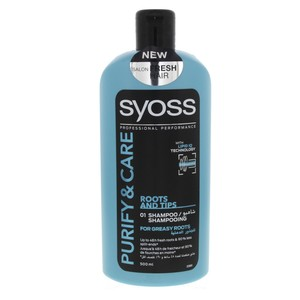 Syoss Purify And Care Roots And Tips Shampoo 500ml