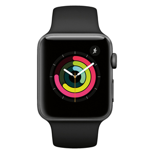Apple Watch Series 3 MTF32LL/A 42mm Space Gray with Black Sport Band