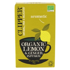 Clipper Organic Lemon & Ginger Tea Bag 20pcs