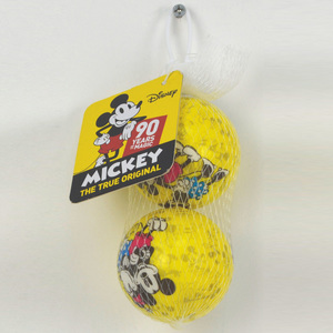 Mickey Mouse 90th Anniversary 2 Pack 6 cm PU Balls