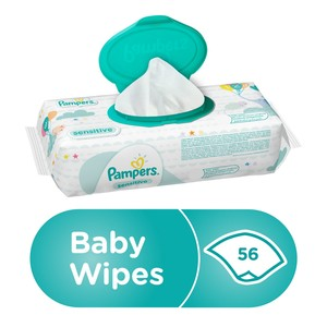 Pampers Sensitive Baby Wipes, 56pcs
