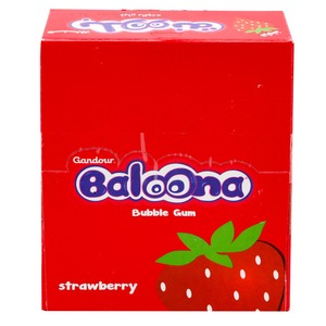 Gandour Baloona Strawberry Bubble Gum 20 x 18g