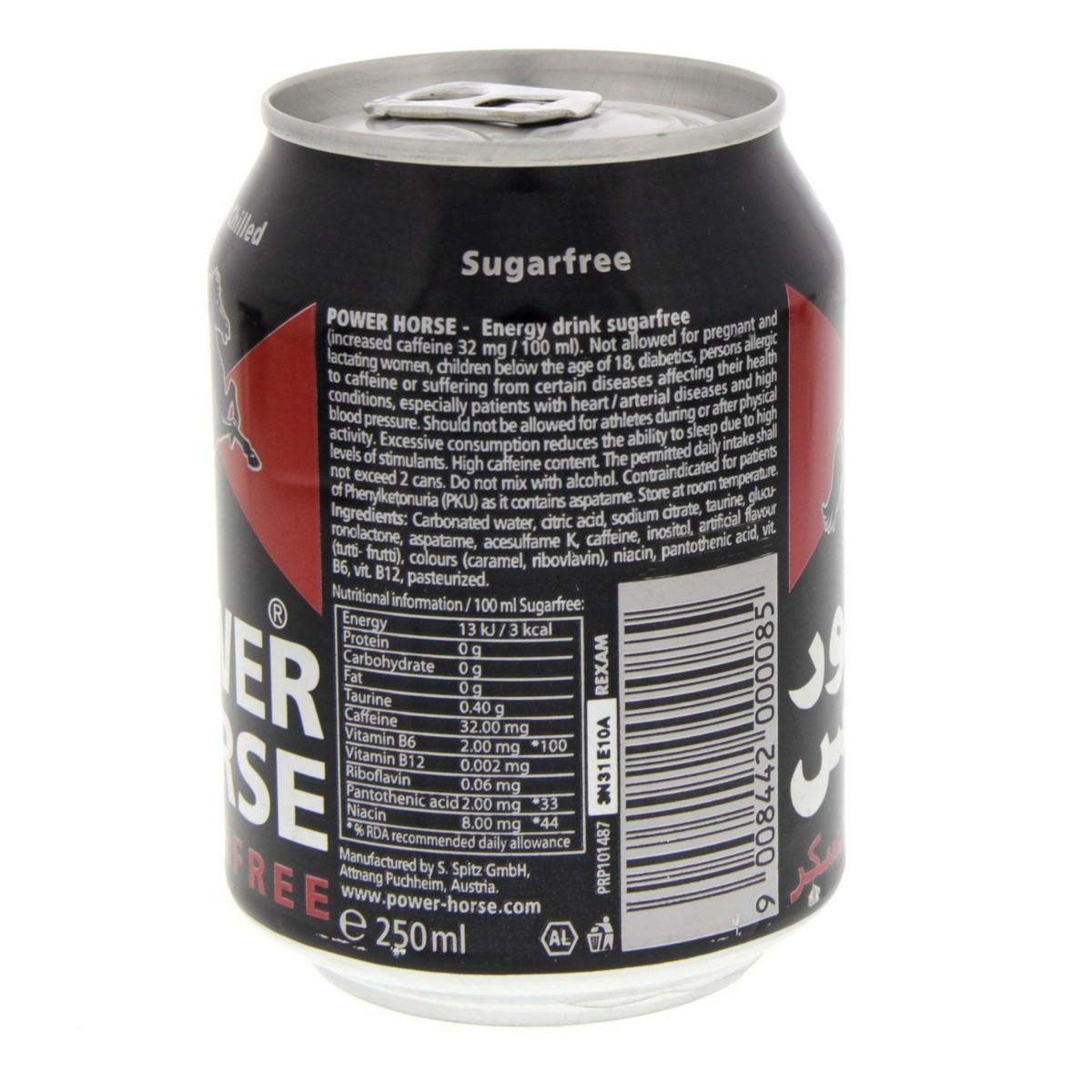 Buy Power Horse Energy Drink Sugar Free 250ml - Energy Drink - Lulu