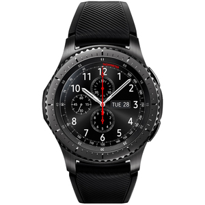 Samsung Gear S3 Frontier Black Case with Black Strap