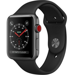 Apple Watch Series 3 (GPS + Cellular) MQKN2 Space Grey Aluminum Case with Sport Band 42mm