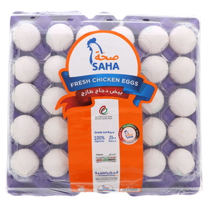 Saha White Eggs Large 30pcs