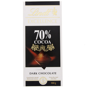 Lindt Excellence 70 % Cocoa Dark Chocolate 100g