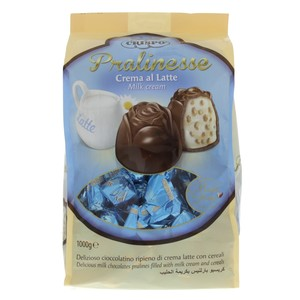 Crispo Pralinesse Milk Chocolate with Milk Cream & Cereal 1kg