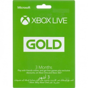 Xbox live Gold Membership Card 3 Months