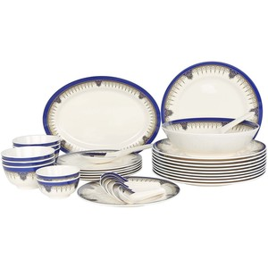 Melamine Dinner Set Bonokt Blue 34pcs