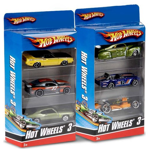 Hot Wheel Basic 3 Car Pack  Assorted 1pc