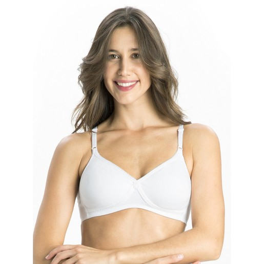 Jockey Women's Seamless Cross Over Bra 1721 White 34B