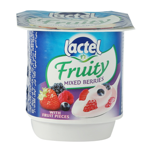Lactel Fruity Yoghurt Mixed Berries 125g