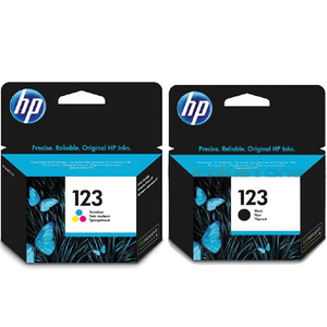 HP Ink Cartridge 123 Black & Tri-Color Combo Pack