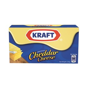 Kraft Processed Cheddar Cheese 250g