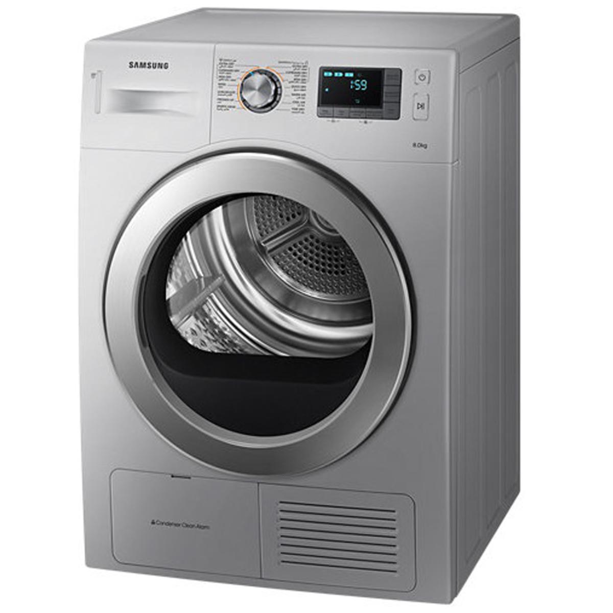 Buy Samsung Front Load Condenser Dryer DV80H4000CSNQ 8Kg - Dryer