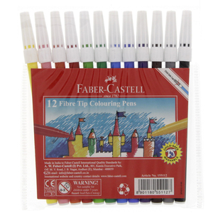 Faber-Castell Fibre Tip Color Pens 12 Pieces