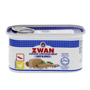 Zwan Chicken Luncheon Meat Hot And Spicy 200g