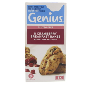 Genius Gluten Free Oats and Cranberry Breakfast Bakes 140g
