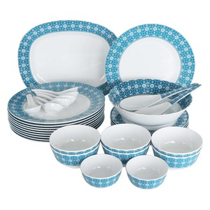 Lulu Melamine Dinner Set 34pcs Ocean Punch