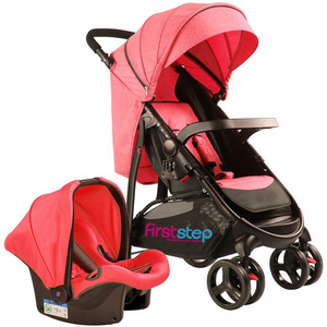First Step Baby Stroller With Car Seat 6798ZY Red