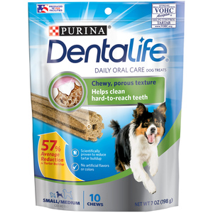 Purina Dentalife Dog Treats Daily Oral Care for Small/Medium Dogs 20-40lbs 198g