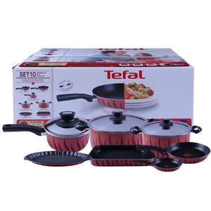 Tefal New Tempo Cookware Set 10Pcs