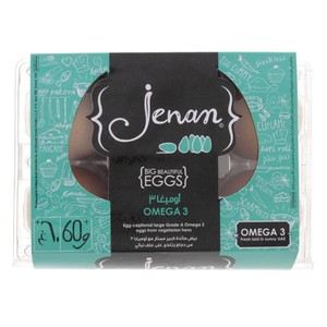 Jenan Omega 3 Brown Eggs Large 6pcs