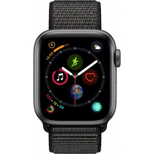 Apple Watch Series 4 - GPS 40mm Space Grey Aluminium Case with Black Sport Loop