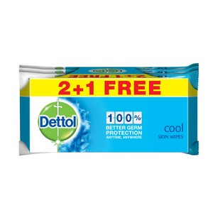 Dettol Cool Skin Wipes 10pcs x 2pkt + 1