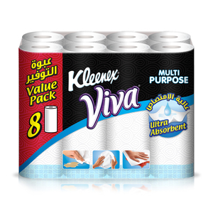 Kleenex Viva Kitchen Towel 40 Sheets x 8 rolls
