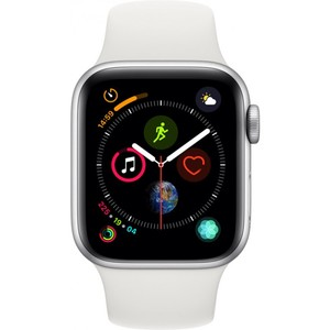 Apple Watch Series 4 - GPS 40mm Silver Aluminum Case with White Sport Band