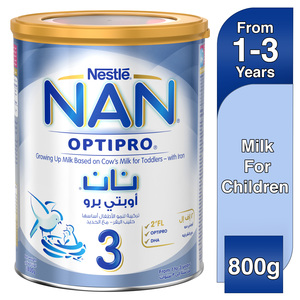 Nestle NAN Optipro Stage 3 From 1 to 3 years Growing Up Milk Based on Cow's Milk for Toddlers with Iron 800g