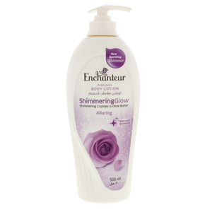 Enchanteur Perfumed Body Lotion Shimmering crystals & Olive Butter 500ml