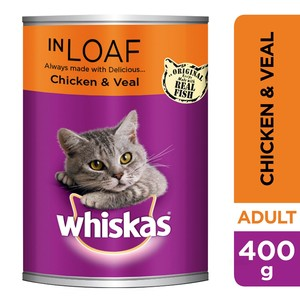 Whiskas® Mince Chicken and Veal in Loaf Can 400g