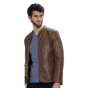 Eten Men's PU Jacket Brown PDL02
