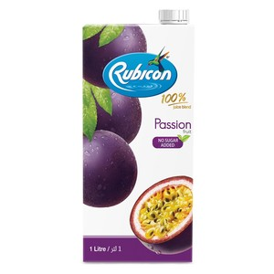 Rubicon Passion Fruit Juice No Sugar Added 1Litre