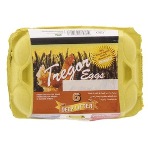Tregor Deep Litter Omega 3 Eggs 6pcs