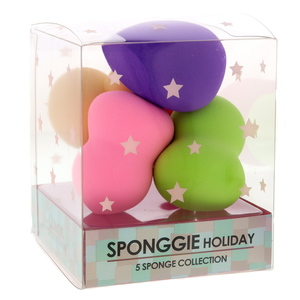 TCW Sponggie Holiday Make Up Sponge Assorted Color 5pcs