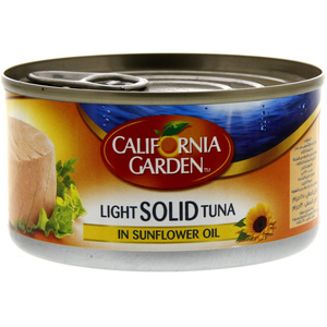 California Garden Light Solid Tuna In Sunflower Oil 185g