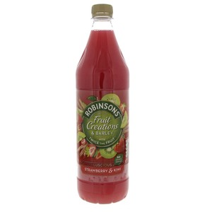 Robinsons Fruit Creations And Barly Luicsous Strawberry And Kiwi 1Litre
