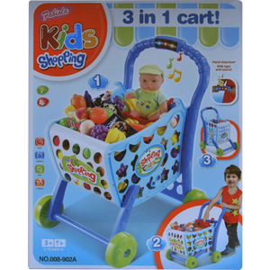 Fabiola Kids Shopping Cart 008-902 A Blue