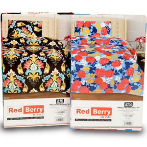Red Berry Bed Sheet Single  Assorted