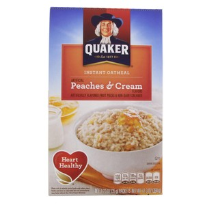 Quaker Instant Oatmeal Peaches & Cream 350g