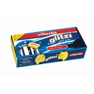 Vileda Glitzi Sponge Scourer Dish Washing High Foam 3pcs