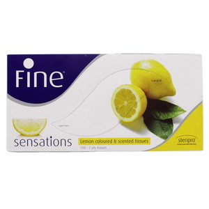 Fine Sensations Lemon Coloured & Scented Tissue 2 Ply 150'S