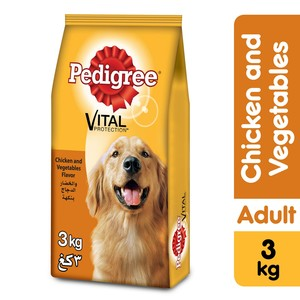 Pedigree Chicken & Vegetables Dry Dog Food (Adult) 3kg