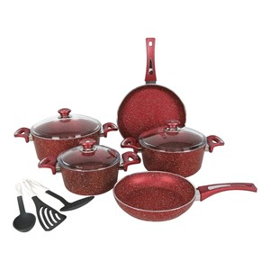 Chefline Granite Cookware Set 11pcs Assorted Colors