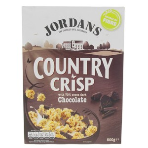 Jordan's Country Crisp With Cocoa Chocolate 500g